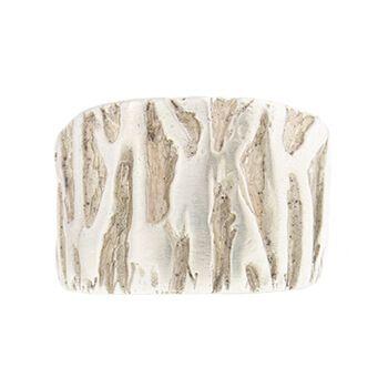 Anillo de plata con forma de corteza de árbol