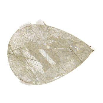 Anillo de plata y cuarzo rutilado de Tabata Morgana