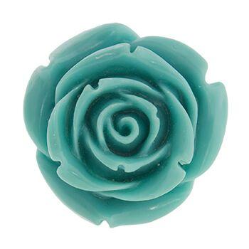 Anillo de plata con flor azul de Tabata Morgana