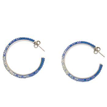 Pendientes de plata con cristales bicolor de Tabata Morgana