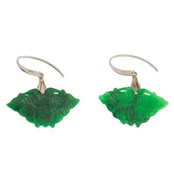 Pendientes de Jade y plata abanico de Tabata Morgana