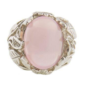 Anillo Plata y cuarzo rosa de Tabata Morgana
