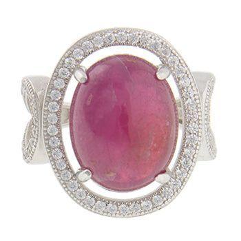 Anillo de plata con rubí y marquesitas de Tabata Morgana