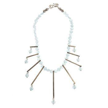 Collar corto de plata con aguamarinas de Tabata Morgana