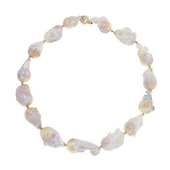 Collar corto de plata con perlas de Tabata Morgana