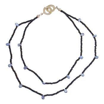 Collar corto de plata con Espinelas y tanzanitas de Tabata Morgana