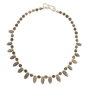 Collar corto de plata con cuarzo ahumado y citrinos de Tabata Morgana