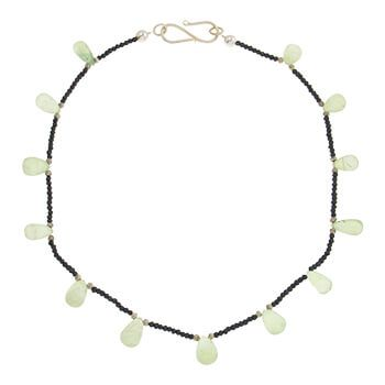 Collar corto de plata con Espinela y Prenhita de Tabata Morgana
