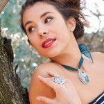 Colgante y anillo de jaspe de Tabata Morgana.