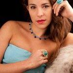 Collar de turquesas y lapislazulis y plata de Tabata Morgana