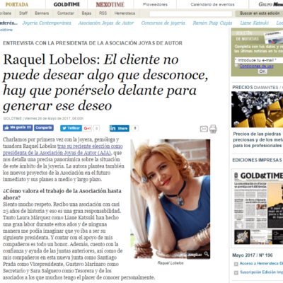 entrevista gold and time a Raquel Lobelos