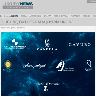 Luxury News Magazine Tabata Morgana en New One